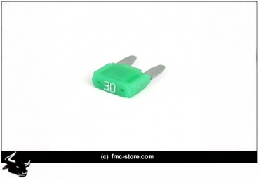 MINI FUSE WITH LED, 30 AMP, GREEN