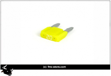 MINI FUSE WITH LED, 20 AMP, YELLOW