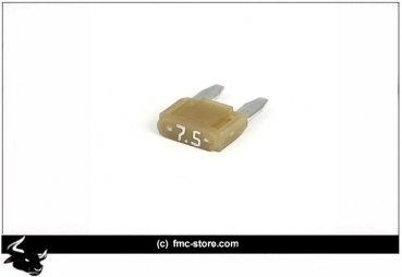 MINI FUSE WITH LED, 7.5 AMP, BROWN