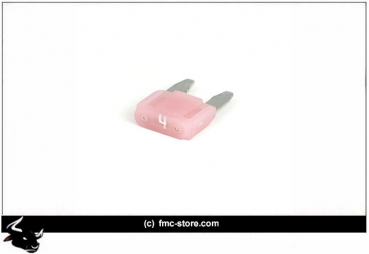 MINI FUSE WITH LED, 4 AMP, PINK
