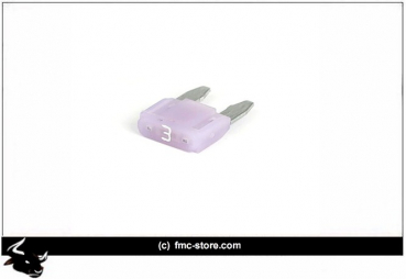 MINI FUSE WITH LED, 3 AMP, VIOLET