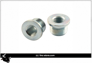 NAMZ EXH. SENSOR BUNG REDUCER 18MM-12MM ; 12-16 SOFTAIL, DYNA WITH PRE-2012 EXHAUST