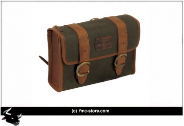 MINI SADDLEBAG, WAXED COTTON  25*18*8CM  KHAKI