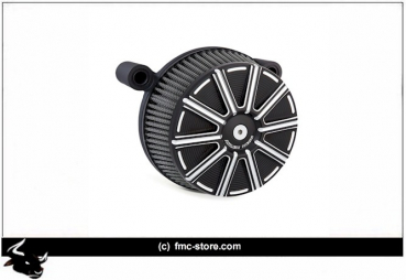 STAGE I BILLET BIG SUCKER AIR FILTER KIT 10 GAUGE BLACK ;  01-15(NU)Softail; 04-17 Dyna (excl. 16-17 FXDLS); 02-07(NU)FLT/Touring