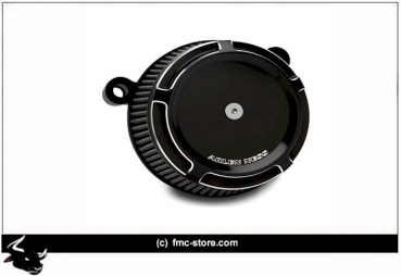 STAGE I BILLET BIG SUCKER AIR FILTER KIT GESCHNITTEN; SCHWARZ    01-15(NU)Softail; 04-17 Dyna (excl. 16-17 FXDLS); 02-07(NU)FLT/Touring