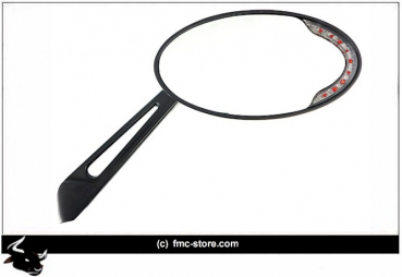 CATEYE MIRROR WITH LED TURNSIGNALS  BLACK Low Rider
