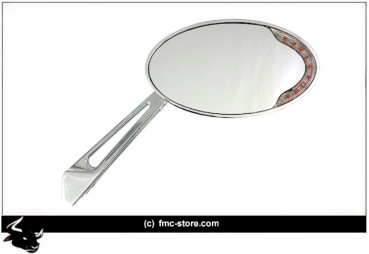 CATEYE MIRROR WITH LED TURNSIGNALS  CHROME