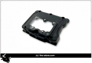 RSD CLARITY ROCKER BOX COVERS  BLACK  FAT BOB 2007-2013