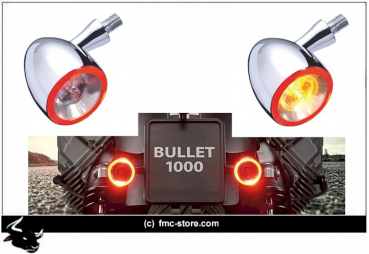 Kellermann Blinker Bullet DF1000 Rear chrom glanz