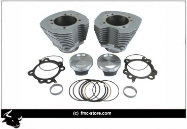 S&S 106 INCH BIG BORE ZYLINDER KIT  SILVER DYNA 08-2013