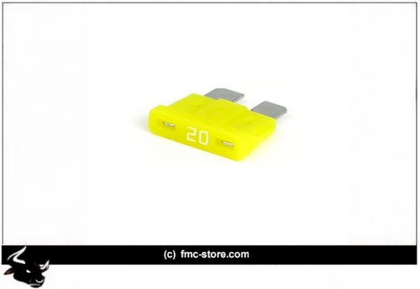 ATC FUSE WITH LED, 20 AMP, YELLOW