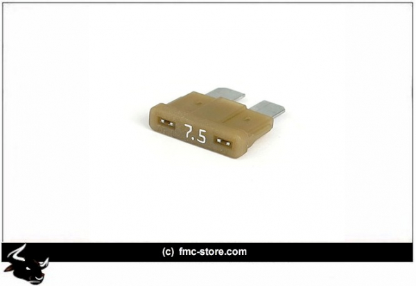 ATC FUSE WITH LED, 7.5 AMP, BROWN
