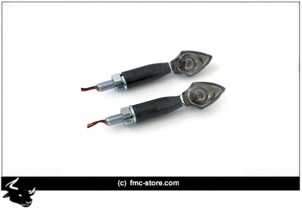 LED TURNSIGNALS PEN HEAD CHROME  (EC)